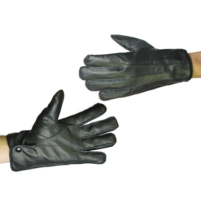 Cut-Resistant Leather Uniform Glove